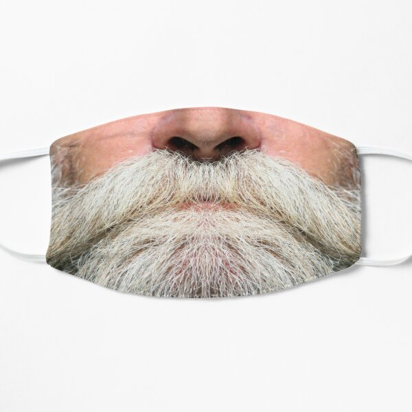 A luscious grey beard -  Mask only Flat Mask