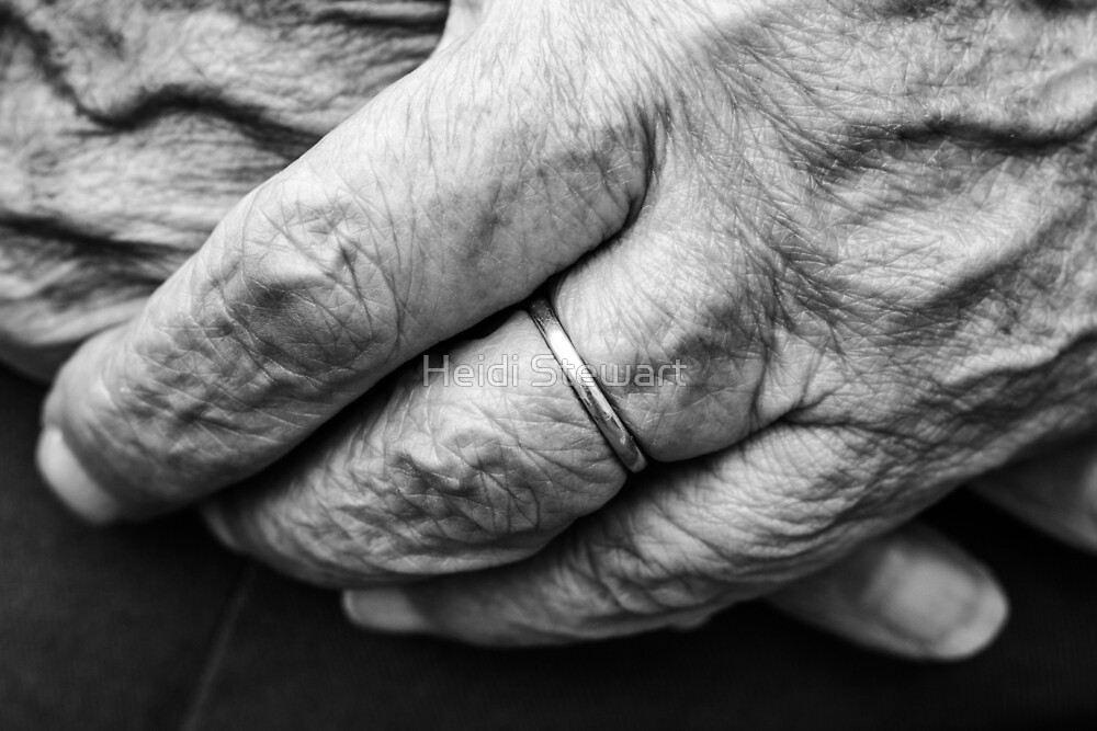 Old Hands and Wedding Ring (2) by Heidi Stewart