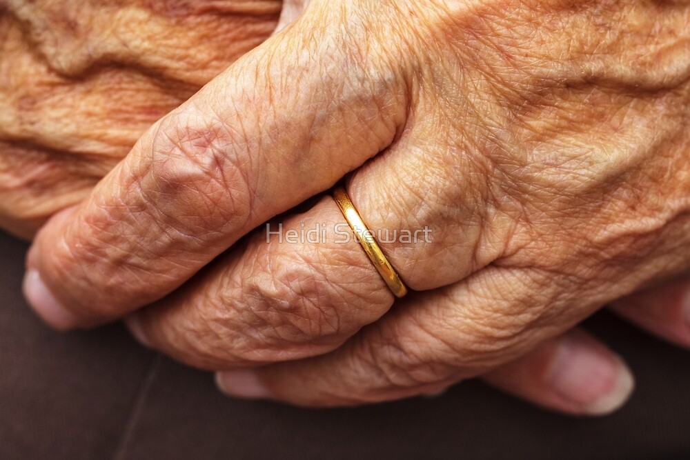 Old Hands and Wedding Ring by Heidi Stewart