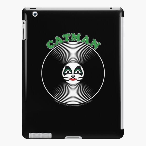 Grüne Catman-Comic-Grafik in der Mitte der Schallplatte - Kuss iPad – Leichte Hülle