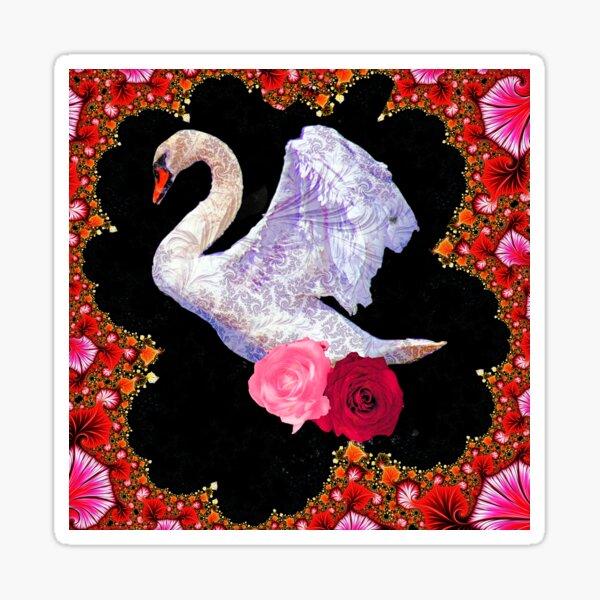 Swish Swan Sticker