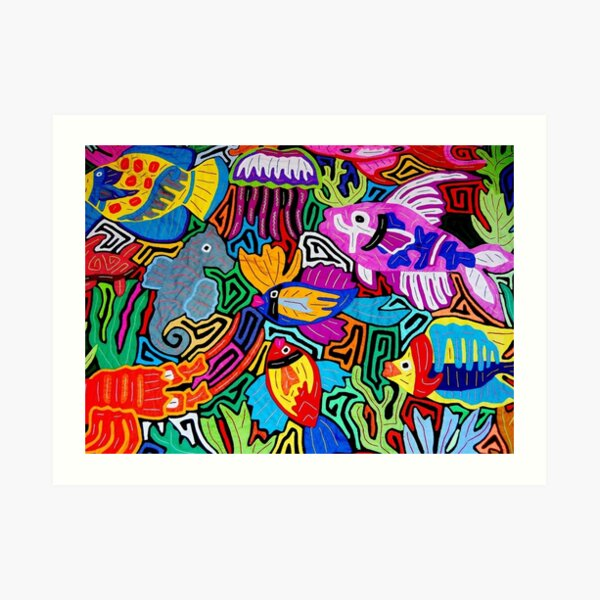 Mola de Panama Art Print