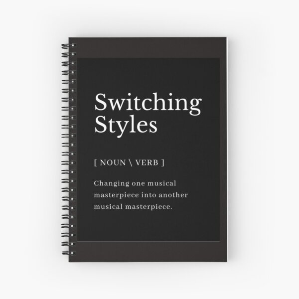 Switching Styles Defintion Spiral Notebook