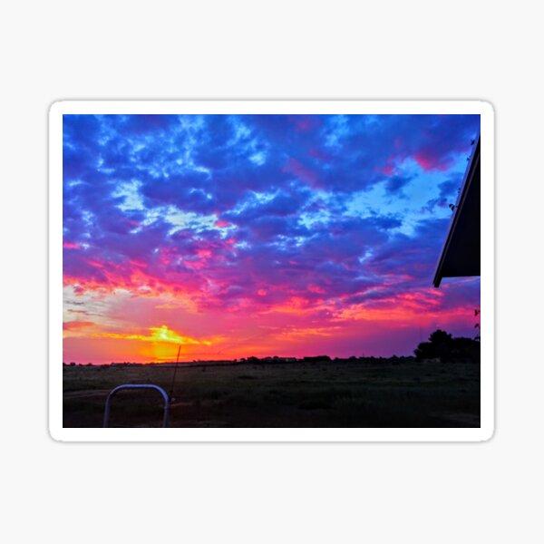 Vibrant Purple Sunrise Sticker