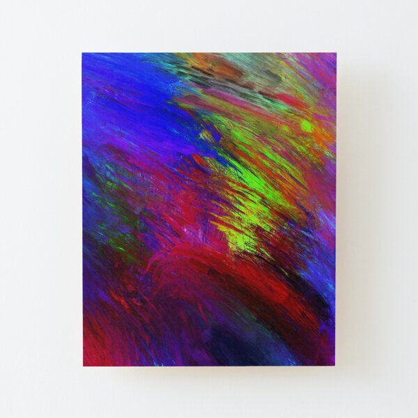 Abstract Painting Emotions   Wild Ride Wood Mounted Print
