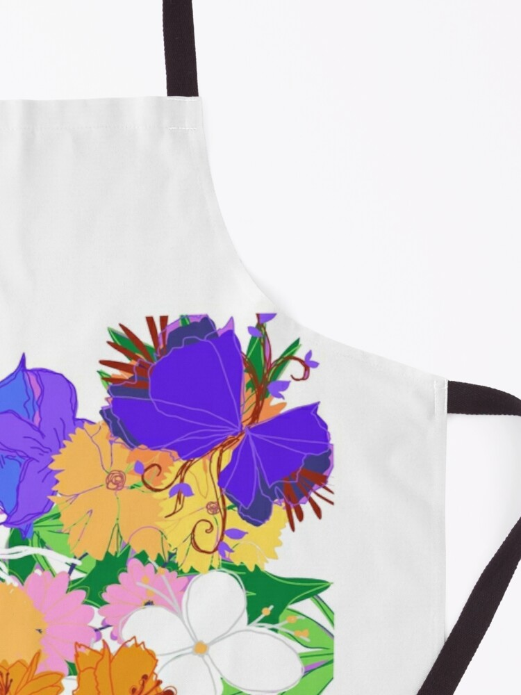 Alternate view of Tabby in the Flowerbed Apron