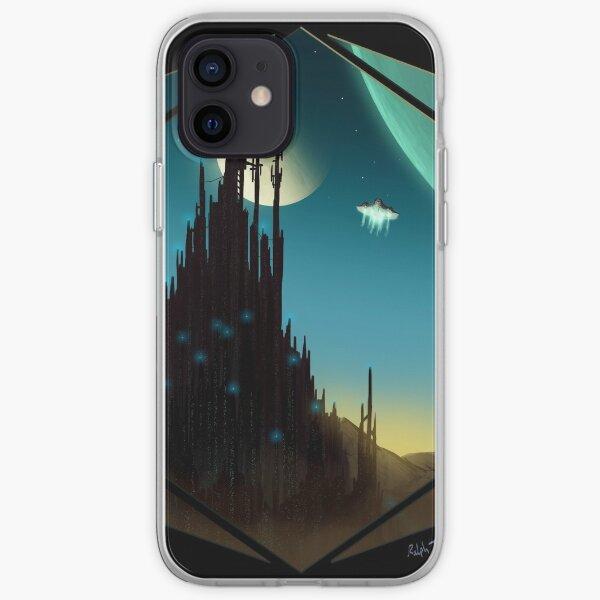 Sci-fi Cityscape Art Print iPhone Soft Case