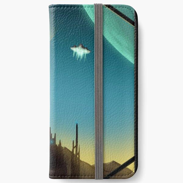 Sci-fi Cityscape Art Print iPhone Wallet