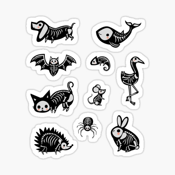 Skeleton Creatures Pack Sticker
