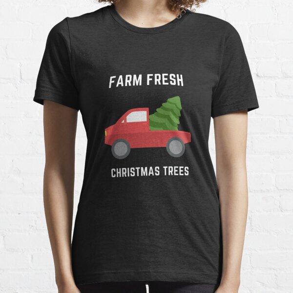 Farm Fresh Christmas Trees Red Truck Essential T-Shirt