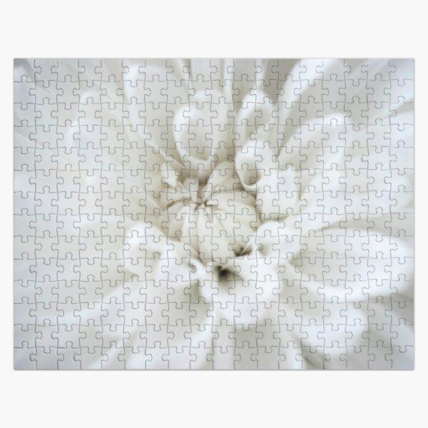 White Flower Burst Jigsaw Puzzle