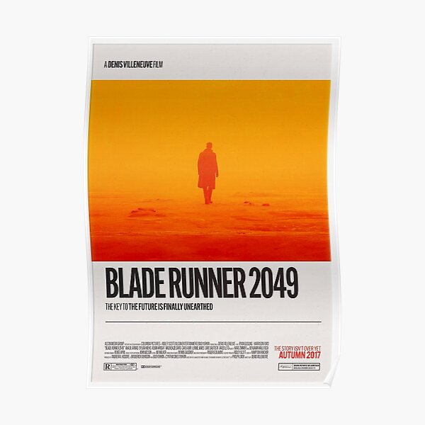 Blade Runner 2049 (2017) - Retro Movie Poster Art, Minimalist Design, Home Cinema, Ridley Scott, Denis Villeneuve, Harrison Ford, Dystopian Poster
