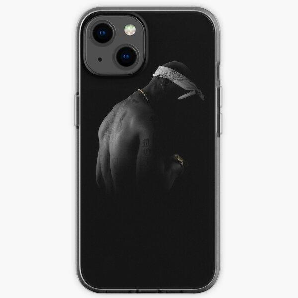 2pac schwarz iPhone Flexible Hülle