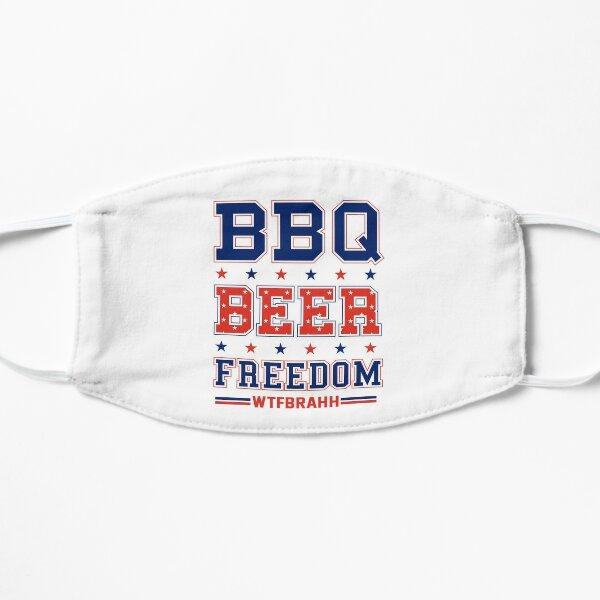 BBQ BEER FREEDOM Remix Biden Crime Family WTFBrahh Flat Mask
