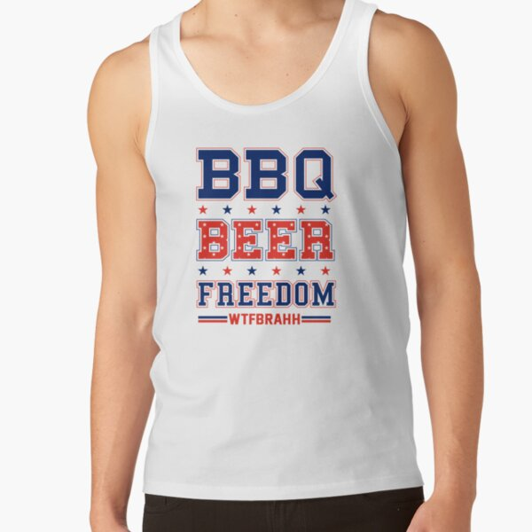 BBQ BEER FREEDOM Remix Biden Crime Family WTFBrahh Tank Top
