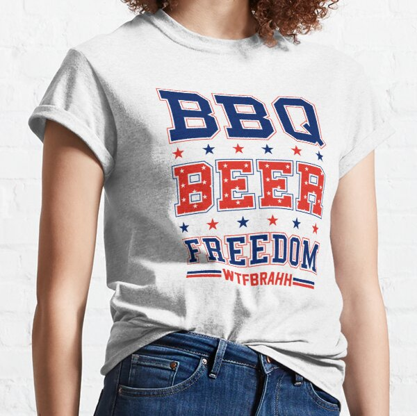 BBQ BEER FREEDOM Remix Biden Crime Family WTFBrahh Classic T-Shirt