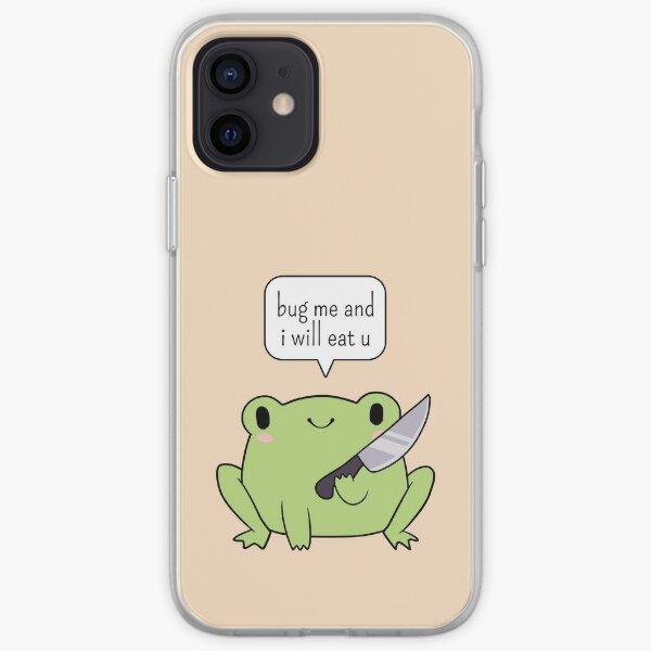 Netter Frosch mit einem Messer iPhone Flexible Hülle