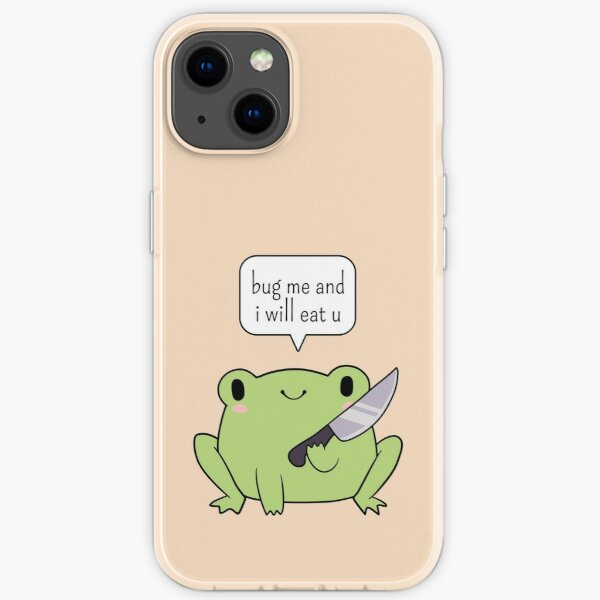 Cute Frog With A Knife iPhone Soft Case