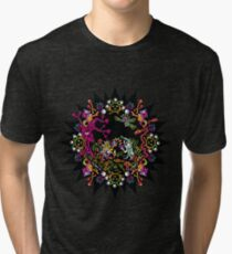 Aztec meeting psychedelic T-shirt Tri-blend T-Shirt