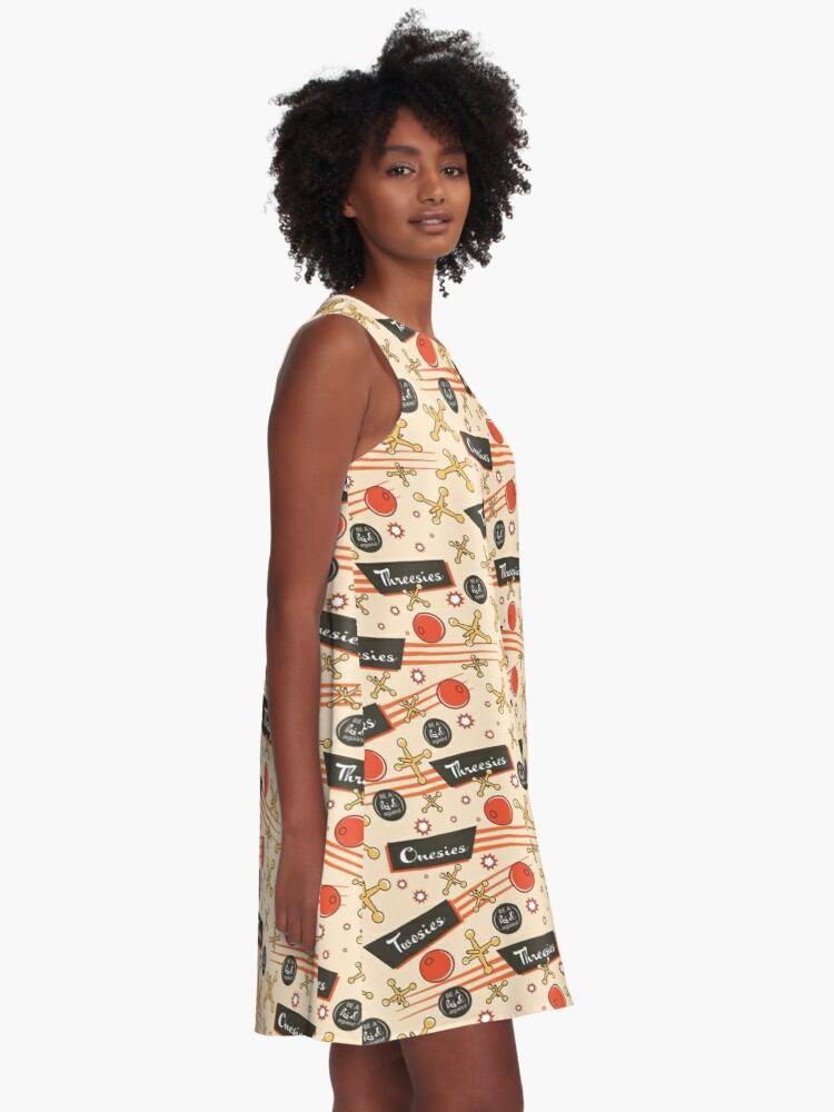Alternate view of Let's play Jacks - Old Fashioned Fun - Be a Kid Again A-Line Dress