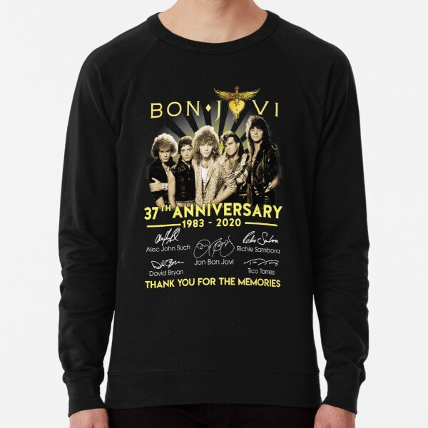 Bon Jovi 37TH Anniversary 1983-2020 Thank you For The Memories Gifts For Fans, For Men and Women, Gift Christmas Day Lightweight Sweatshirt
