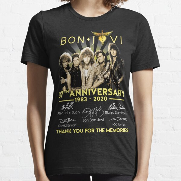 Bon Jovi 37TH Anniversary 1983-2020 Thank you For The Memories Gifts For Fans, For Men and Women, Gift Christmas Day Essential T-Shirt