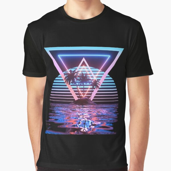 Cool Outrun - Vaporvawe 1980s Tropical Graphic T-Shirt