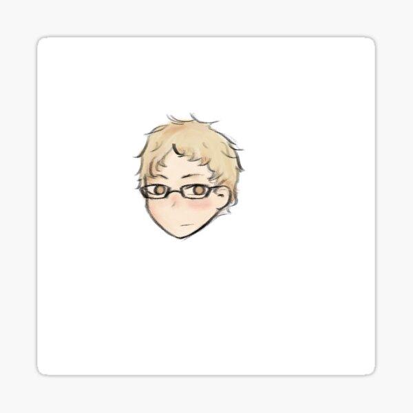 Tsukishima haikyuu sticker cute  Sticker