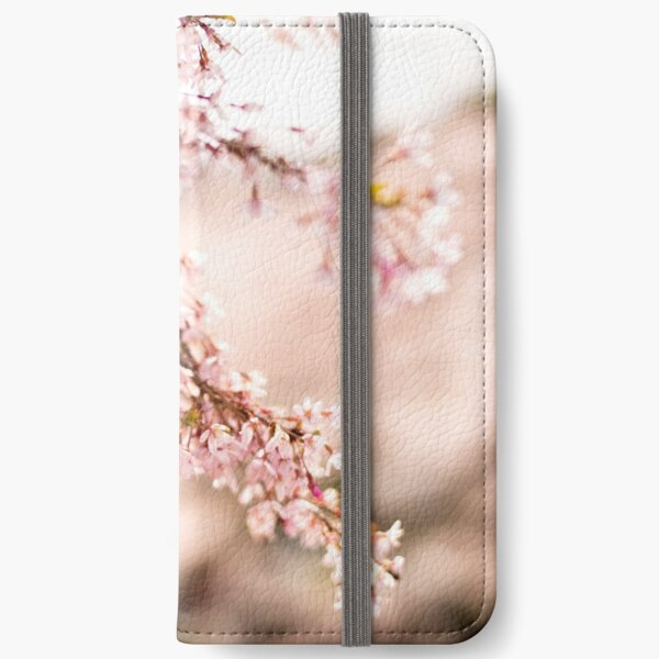White blossoms in Spring landscape, cherry blossoms Japan iPhone Wallet