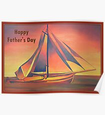 Happy Father's Day (Sienna Sails) Poster