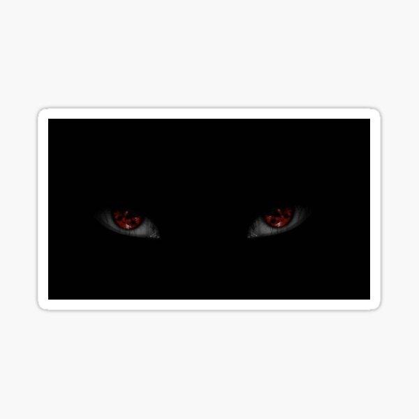 Rote Augen im Dunkeln Sticker