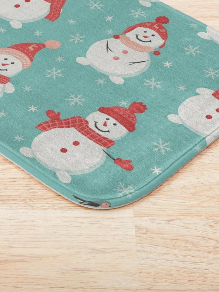 Alternate view of Merry Snowmen Bath Mat