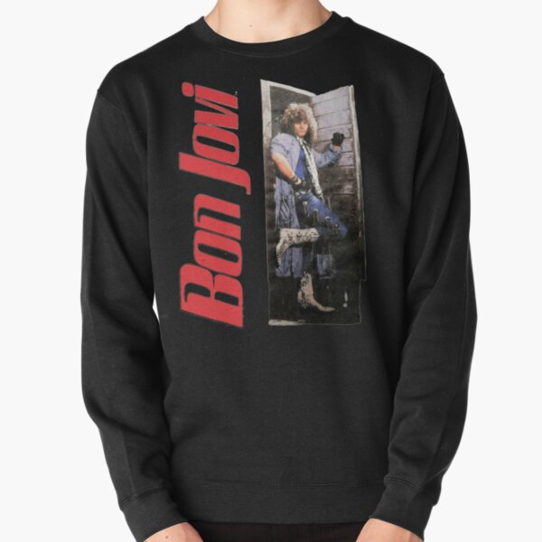 Vintage 1987 Bon Jovi Slippery When Wet World Gifts For Fans, For Men and Women, Gift Christmas Day Pullover Sweatshirt