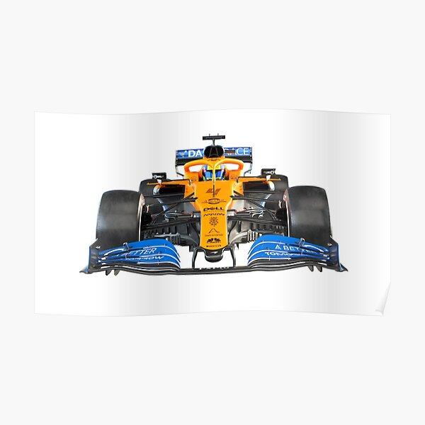 2020 Mclaren MCL35 car Norris Sainz Poster