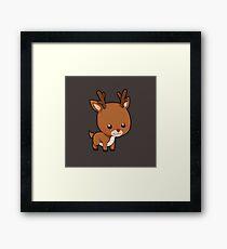 Adorably Cute Reindeer Framed Print