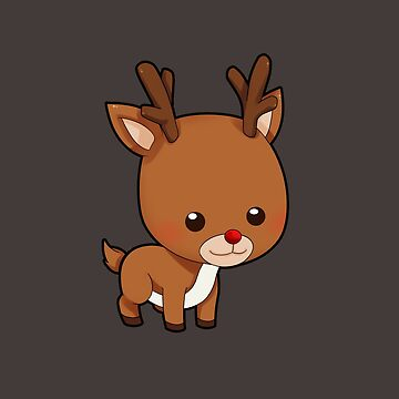 Adorably Cute Reindeer by revoltz
