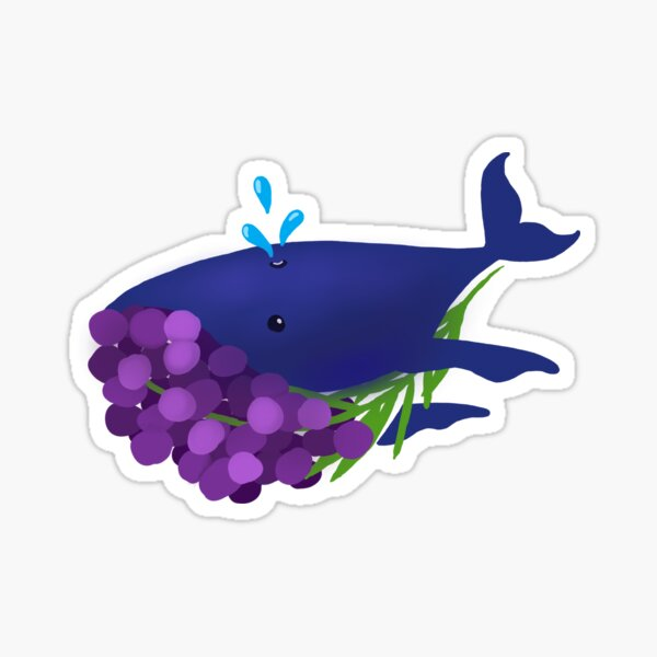 GrapeWhale Sticker