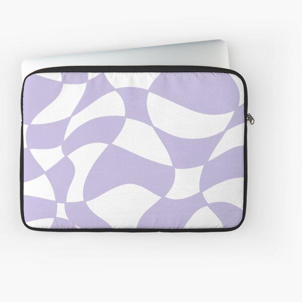 Distorted Checkerboard II (Pastel Purple) Laptop Sleeve
