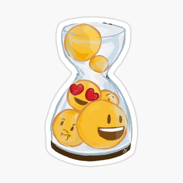 Emoji Hourglass Sticker