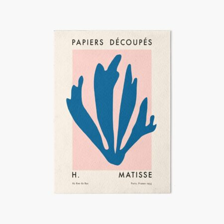 Matisse Gallery Exhibition Poster Vintage Art Board Print