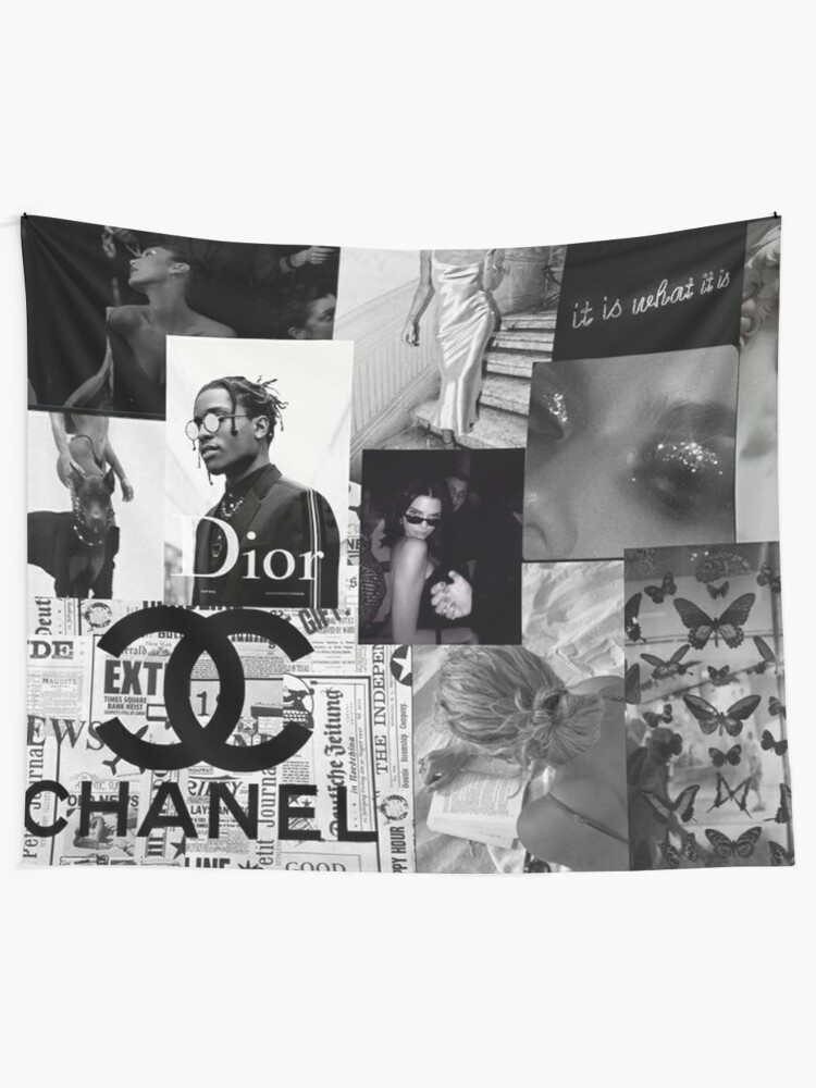 Alternate view of Black and White Picture Aesthetic Collage Wall Tapestry