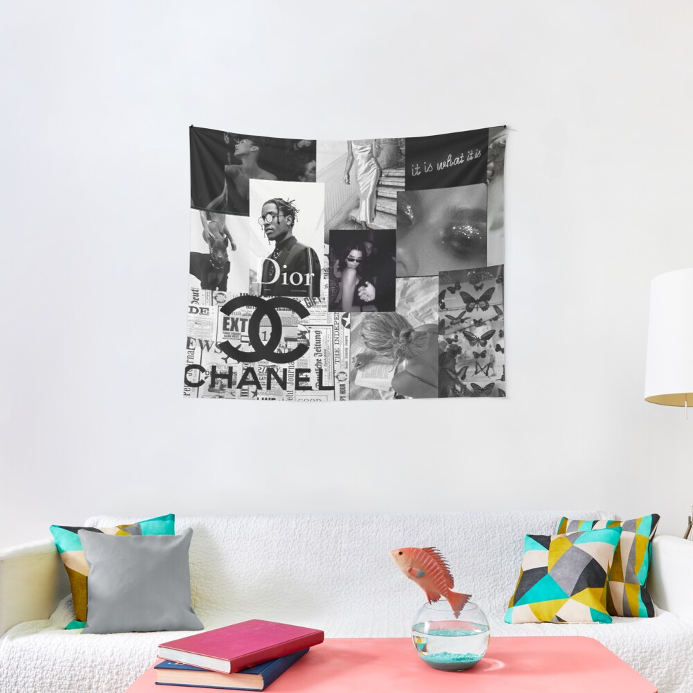 Black and White Picture Aesthetic Collage Wall Tapestry