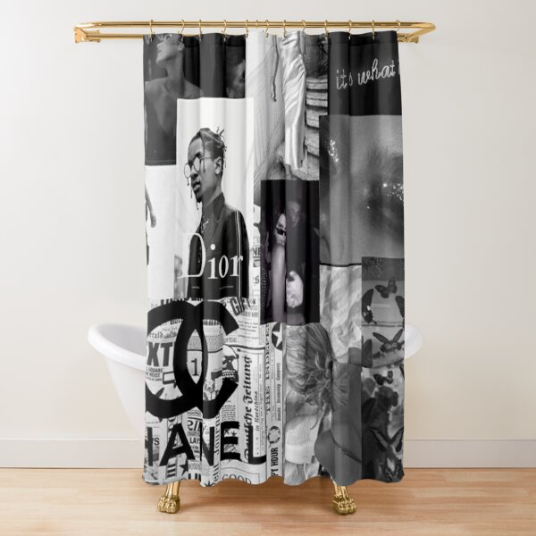 Black and White Picture Aesthetic Collage Wall Shower Curtain