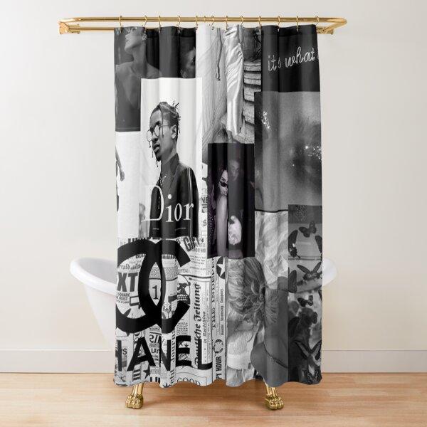 Mur de collage esthétique photo noir et blanc Rideau de douche