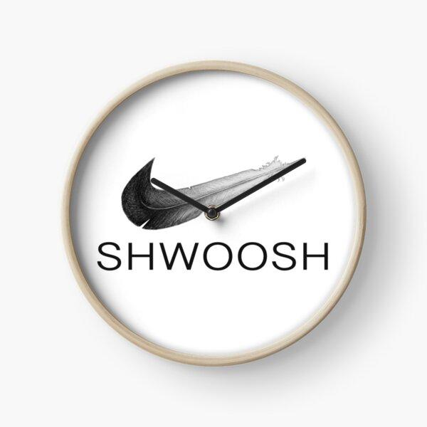 Eagle Shwoosh Clock