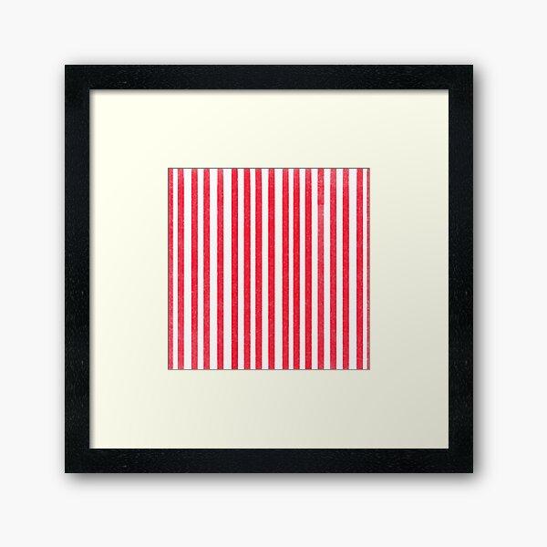 Candy Cane Stripe Design Framed Art Print