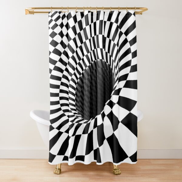 Optical Illusion, Visual Illusion, Cognitive Illusion  Shower Curtain