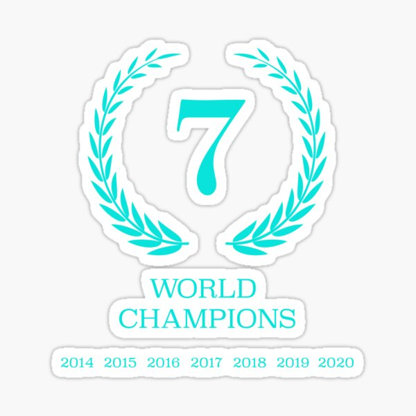 Mercedes AMG Petronas 7 Champions Sticker
