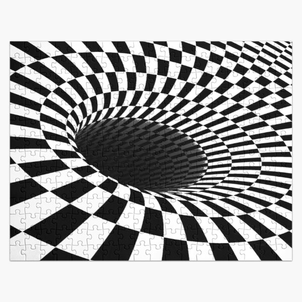 Illusion is a step away from reality and optical illusions are those that relate images we see to others that we visualize, perceive, or relate to Jigsaw Puzzle