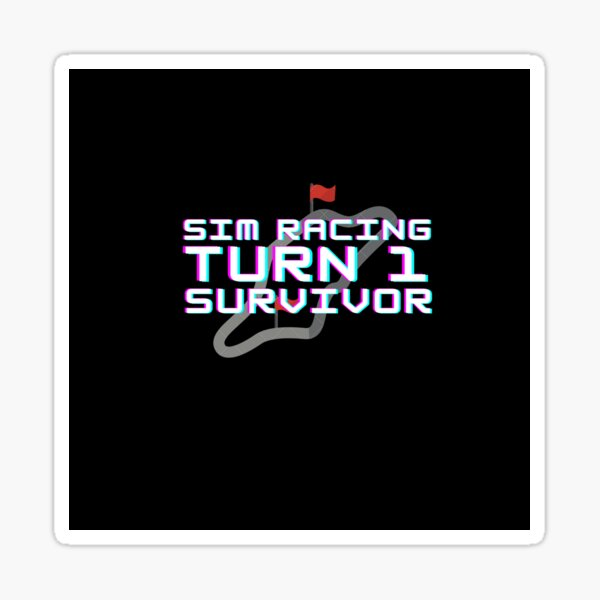 Survivant du tour 1 de Sim Racing Sticker